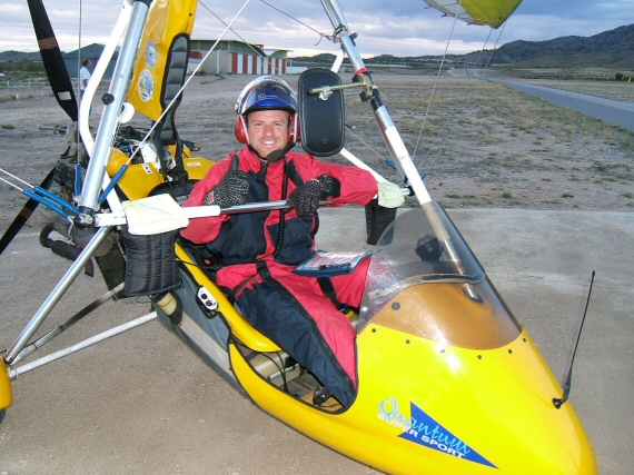 Photo of flying instructor Stephen Wilkes.
